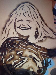 deedee hampton stencil face